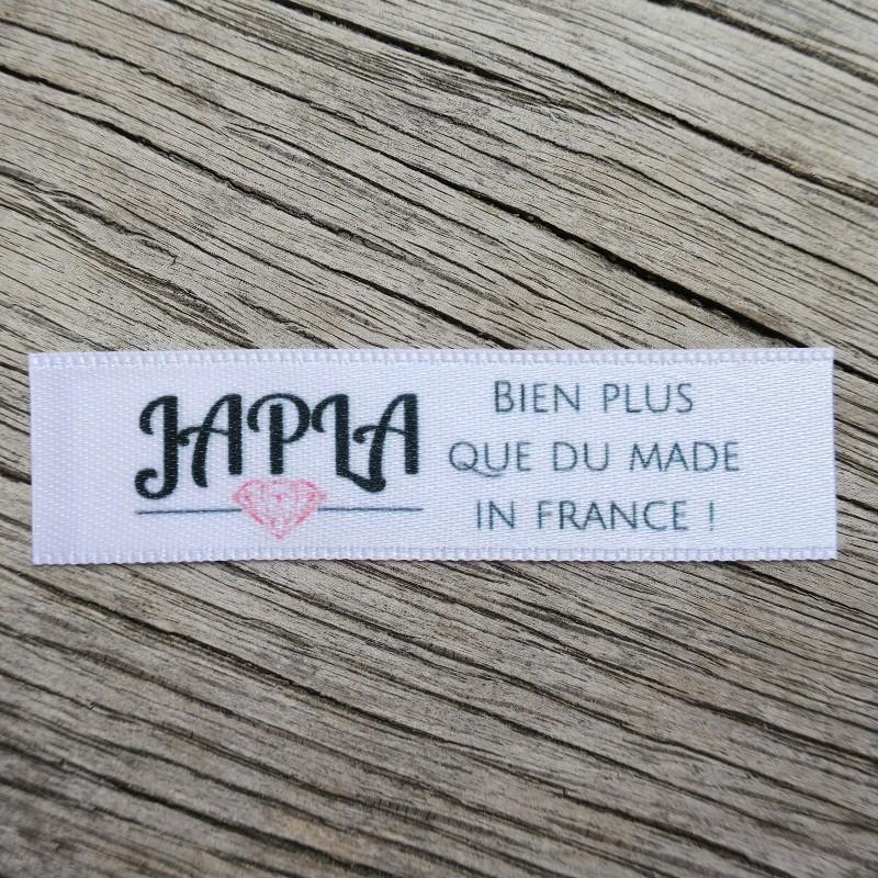 Souvent Etiquettes vêtements made in France imprimées sur satin double face DY31