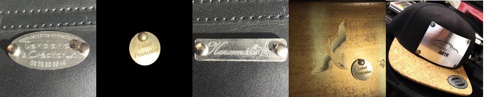 étiquettes effet métal aluminium brossé ou or brossé