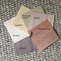 panel essences étiquettes en bois