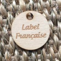 étiquette ronde en bois