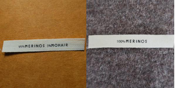 étiquette d'entretien et de composition en coton