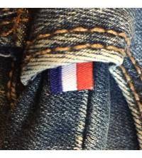 Étiquette drapeau tricolore