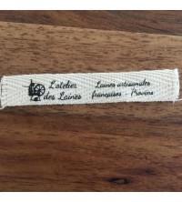Étiquette vêtements coton bio sergé petite série
