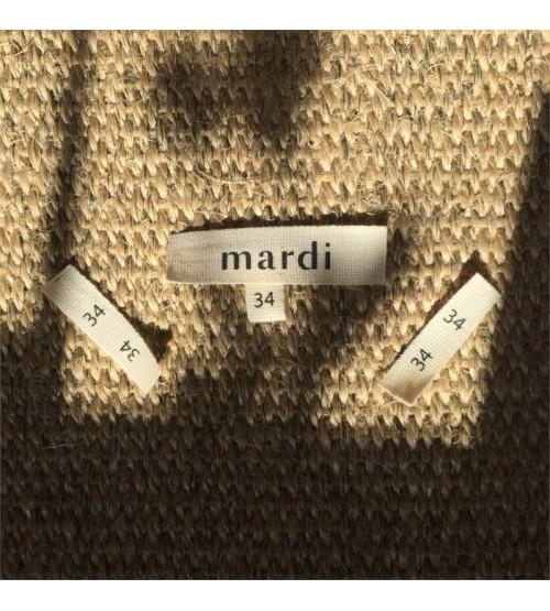 Étiquette vêtement en coton taille 34