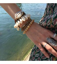 Bracelets perles de bois