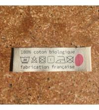 Etiquette vêtement en coton certifié GOTS