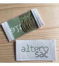Alterosac : Etiquette polyester et coton