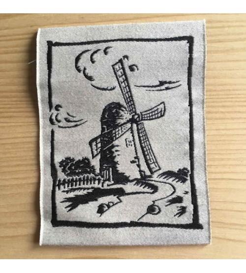 Etiquette vêtement tissée coton et lin