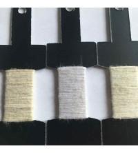 Etiquette vêtement tissée 100% fil de lin : lin ecru lin blanc lin capuccino