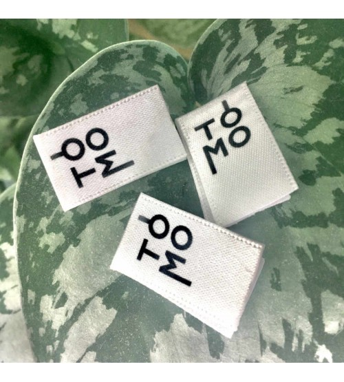 Etiquette vêtement satin recyclé