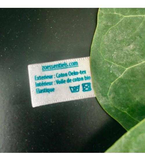 Etiquette de composition polyester recyclé GRS