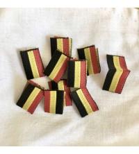Etiquette drapeau belge tissé
