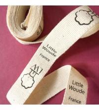 Ruban en coton biologique gros grain 15 mm