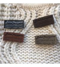 gamme étiquettes vêtement gravées sur cuir synthétique