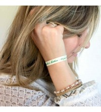Bracelets coton ecru