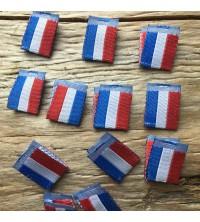 Etiquette drapeau tricolore GRS