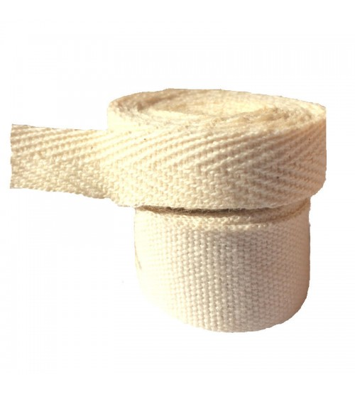 Gamme ruban coton bio sergé 10 mm ou gros grain 15 mm