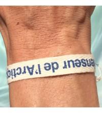 bracelet coton bio sergé 10 mm
