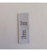 Étiquettes taille bébé 3 m