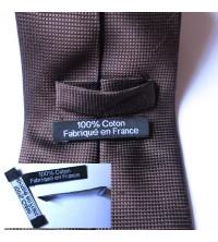 Etiquettes personnalisées 10 * 50 mm, pliage sur les cotés