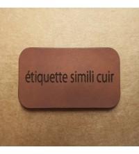 Étiquettes personnalisées simili cuir Brun