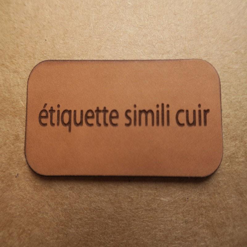 étiquettes Simili Cuir Personnalisées à Coudre Ou à Coller