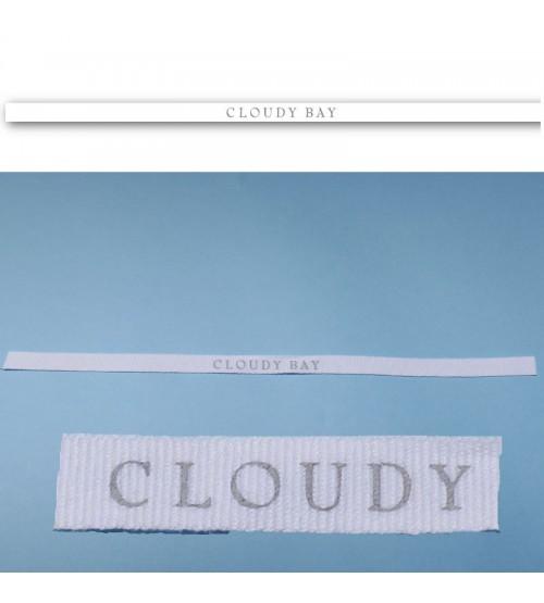 bracelets personnalisés coton blanc avec une sérigraphie monchrome
