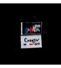 500 étiquettes tissées 24x14 5 couleurs