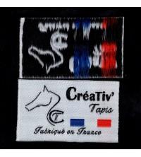 500 étiquettes tissées 30x50 mm 5 couleurs