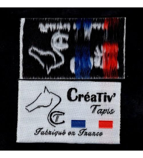 étiquettes pour tapis
