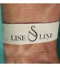 Bracelets coton personnalisé 15 mm gros grain
