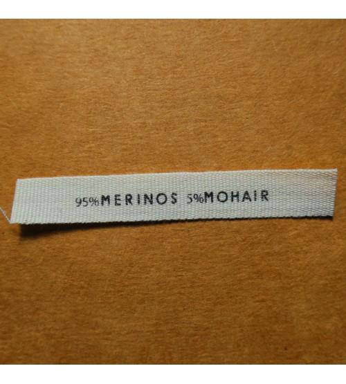 étiquettes coton écru 10 mm gros grain
