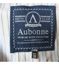 Étiquette vêtement tissée en fil de coton