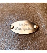 Étiquettes or brossé ovale