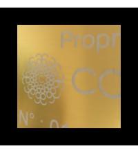 Étiquettes personnalisées gravées aluminium