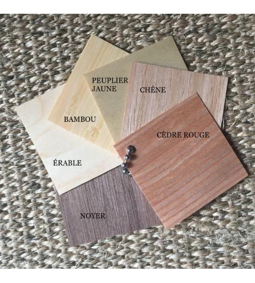 Étiquettes personnalisées en bois