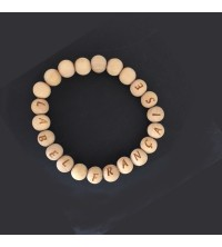 Bracelets perles de bois personnalisés