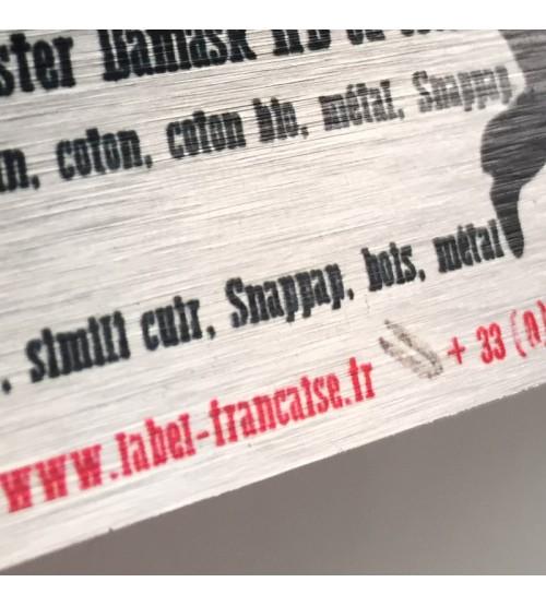 Cartes de visites imprimée sur aluminium brossé