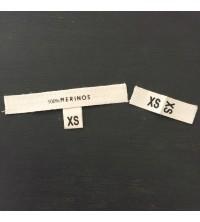 Étiquettes coton taille XS