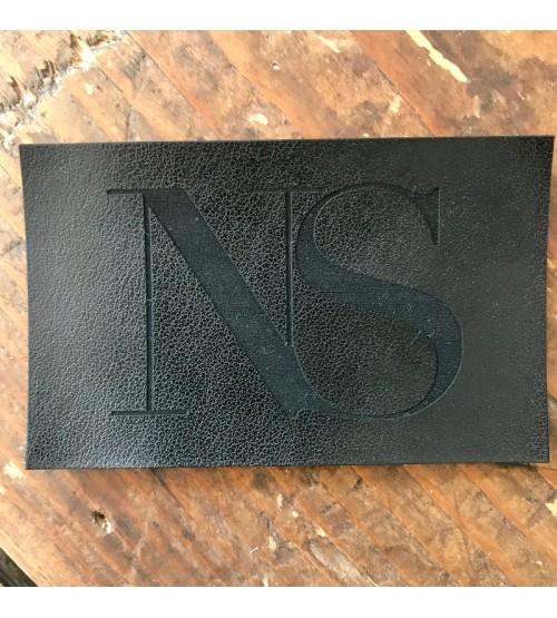 étiquettes simili cuir : noir