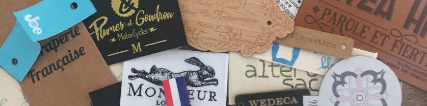 Étiquettes vêtements personnalisées