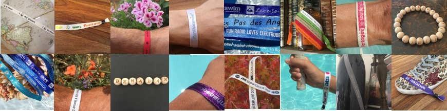 Bracelets Satin, Coton et Perle Bois Personnalisés