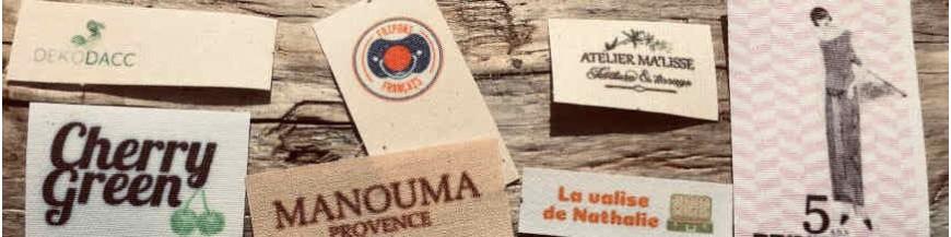 Étiquettes coton petite série