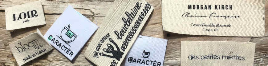 Étiquettes vêtement coton