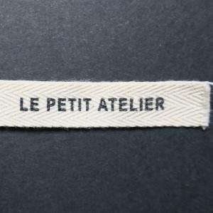 étiquette en coton bio sergé 10 mm