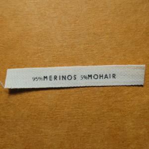 étiquette en coton écru