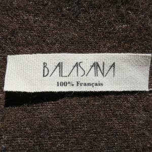 étiquette en coton naturel