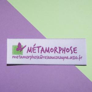 étiquettes tissées 3 couleurs 75x25 mm