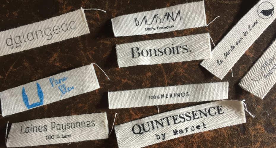 étiquettes personnalisées en coton made in france