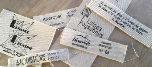 exemple d'étiquette vêtement coton bio